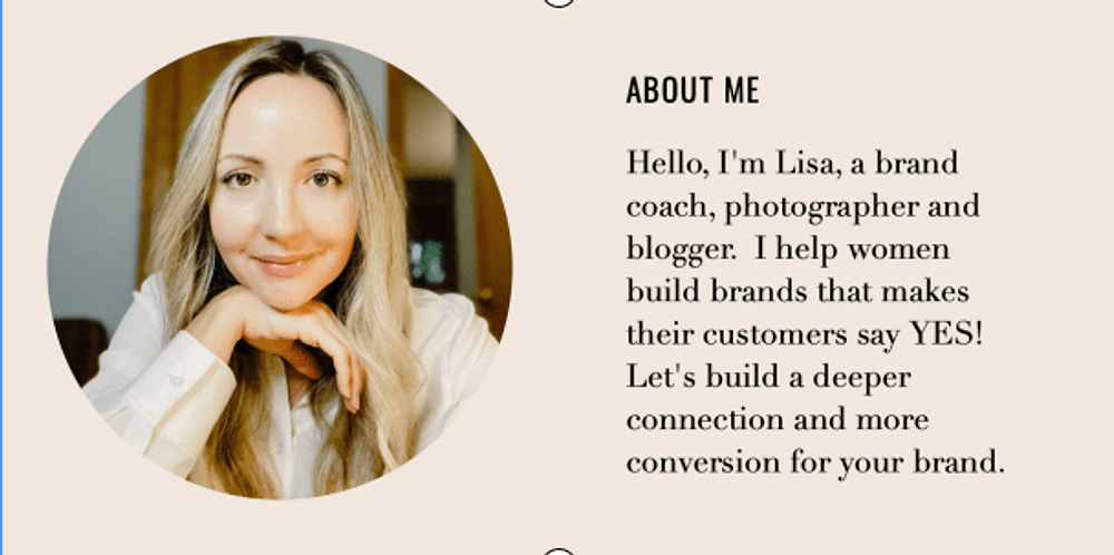 Meet Lisa, Brand and Marketing Strategy Expert and Coach.