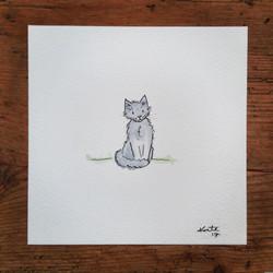 Original Watercolour Cat