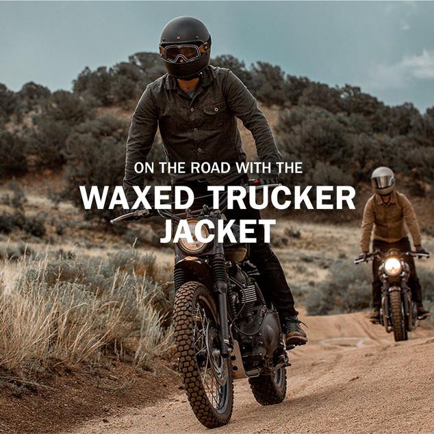 Waxed Trucker Jacket Email