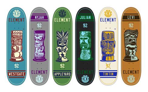 "Element Skateboards ""Tiki Series"""
