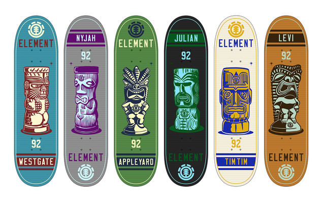 "Element Skateboards ""Tiki Series"""
