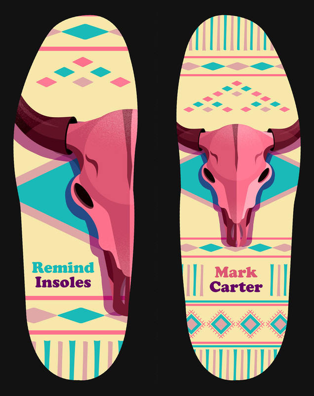 """Bison Skull"" for Remind Insoles"