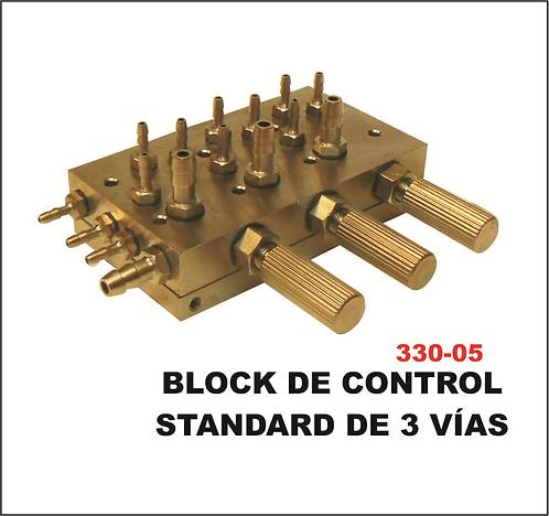 Block de control standard 3 vias