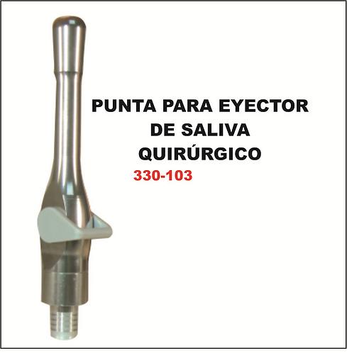 Punta de plástico para eyector de saliva quirúrgico