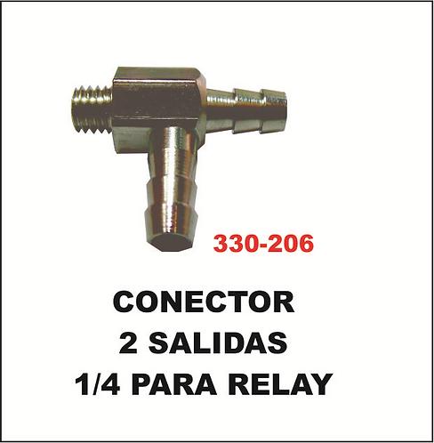 Conector 2 salidas 1/4 para relay
