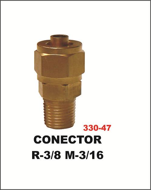 Conector R-3/8 M 3/16