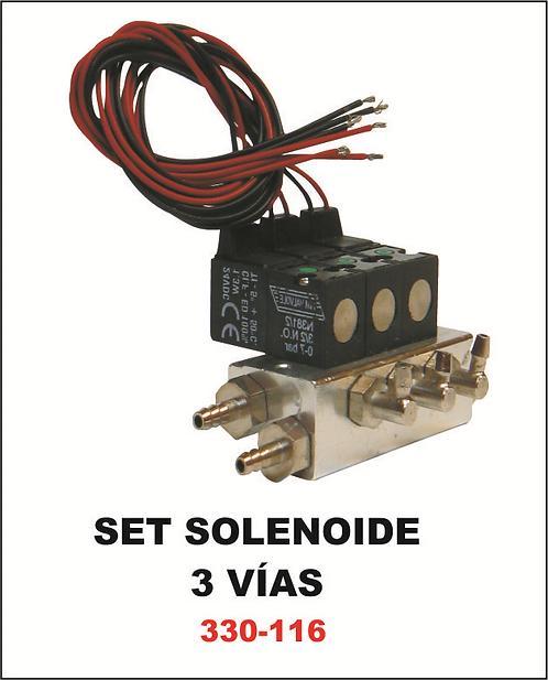 Set solenoide 3 vias