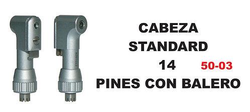 Cabeza standard 14 pines con balero