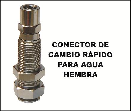Conector de cambio rápido para agua hembra