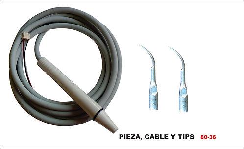 Pieza, cable y TIPS