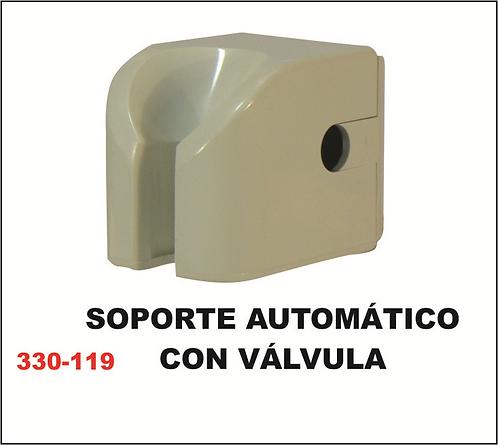 soporte automático con válvula