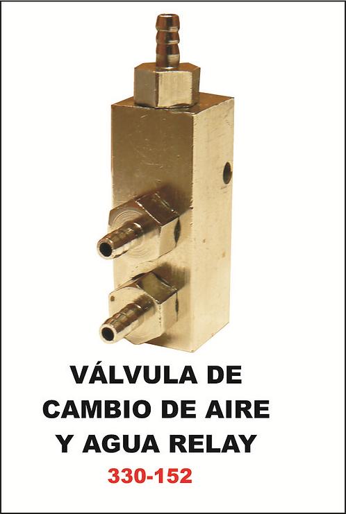 Válvula de cambio de aire y agua relay