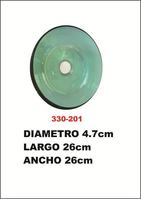 escupidera de cristal lago 26 cm ancho 26 cm
