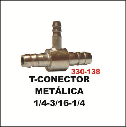 T-conector metálica 1/4-3/16-1/4