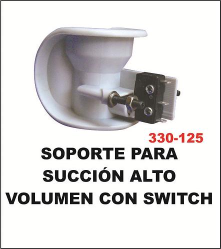 Soporte para succión alto volumen con switch