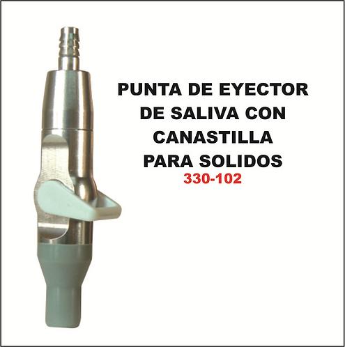 Punta de eyector de saliva con canastilla para solidos