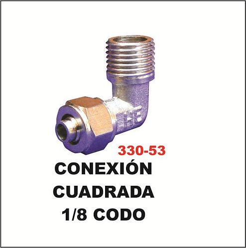 Conexión cuadrada 1/8 codo