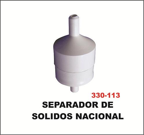 Separador de sólidos nacional