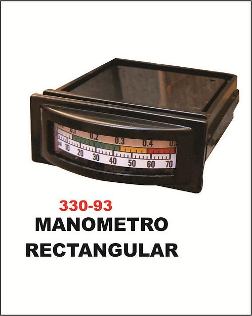 Manómetro rectangular