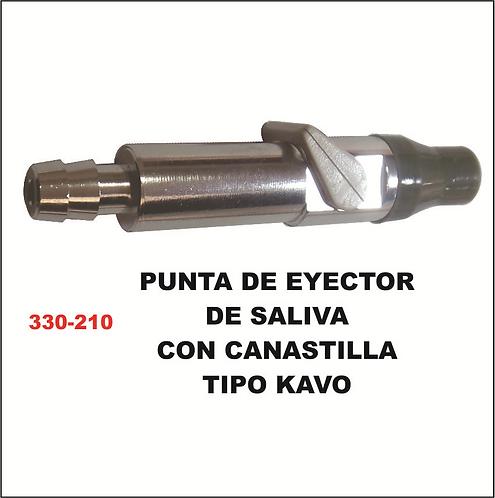 Punta de eyector de saliva con canastilla tipo kavo