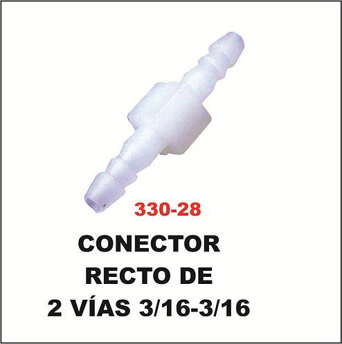 Conector 2 vías 3/16-3/16