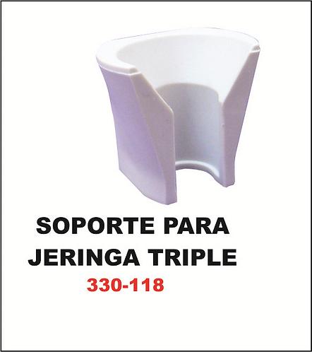 Soporte para jeringa triple