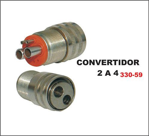 Convertidor 2 a 4