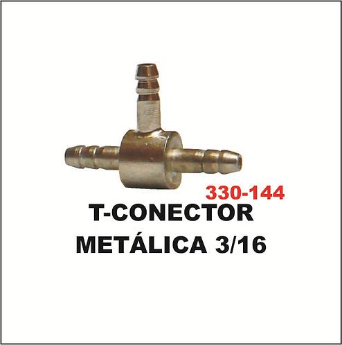 t-conector metálica 3/16