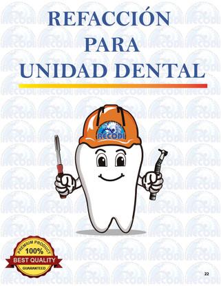 Refacción para unidad dental