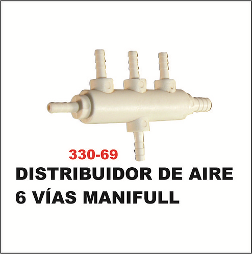 Distribuidor de aire 6 vias manifull
