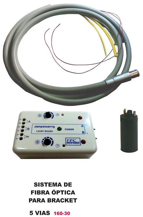 Sistema de fibra óptica para bracket 5 vías