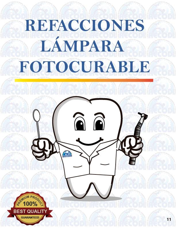 Refacciones Lámpara fotocurable