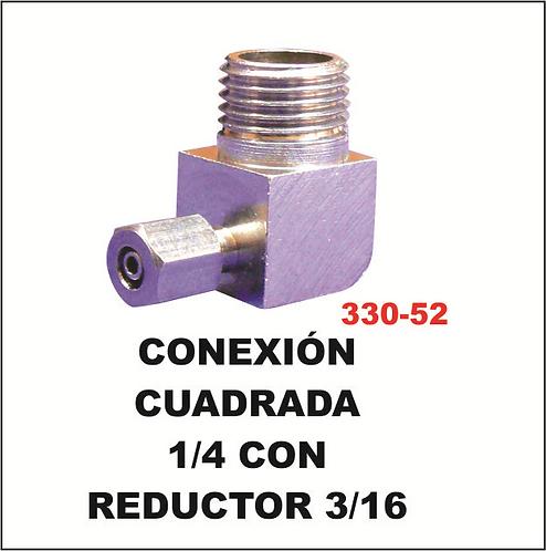 conexión cuadrada 1/4 con reductor 3/16