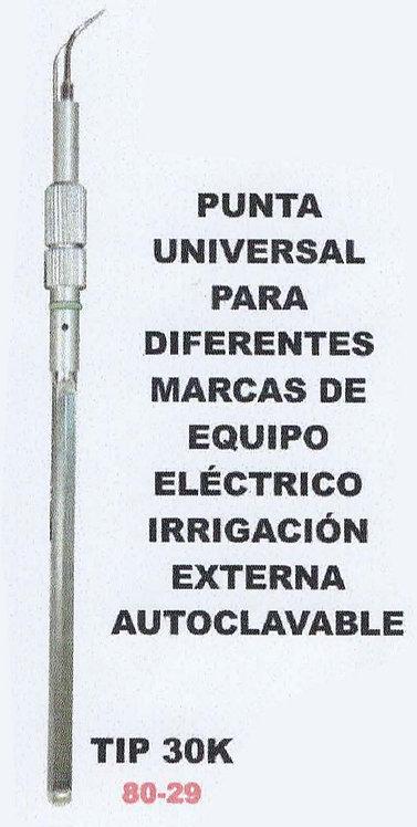 Punta universal para equipo eléctrico irrigación externa autoclave TIP 25k