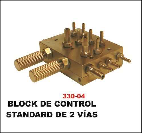 Block de control standard 2 vías