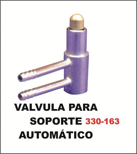 Válvula para soporte automático