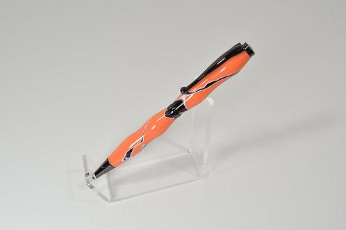 Gunmetal Funline Twist Pen - Orange/Black/White