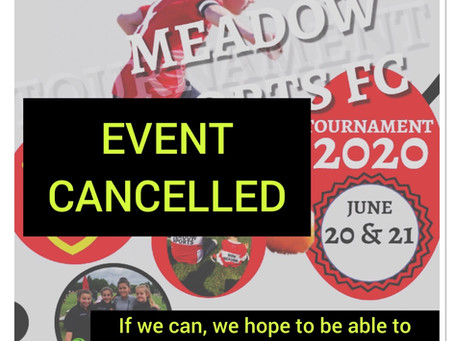 Meadow Summer Tournament cancelled