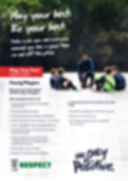 Code of conduct young players