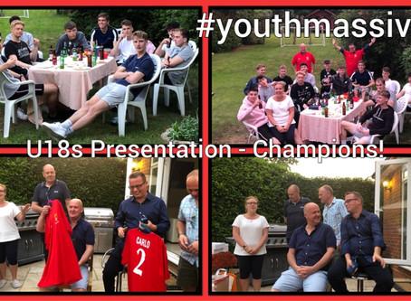 U18s End of Season Celebrations