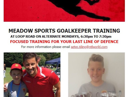 Goalkeeper Training, Monday 25th of March 6:30pm to 7:30pm