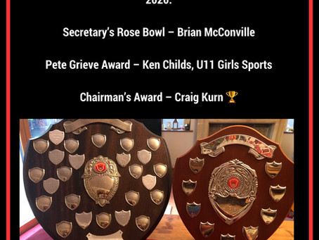 MEADOW SPORTS AGM  2020 - CHAIRMAN'S REPORT, CLUB AWARDS AND THANK YOUS