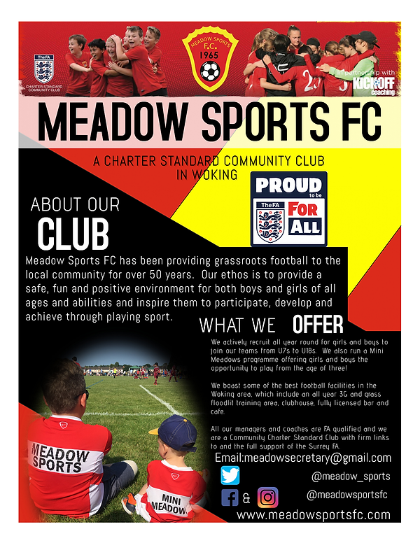 Meadow Sports FC flyer