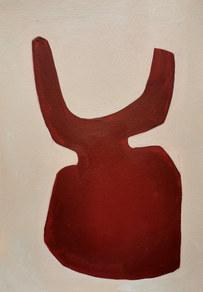 Mouvement tellurique, 2020, huile sur papier, 21x29,7 cm // COLLECTION PRIVEE