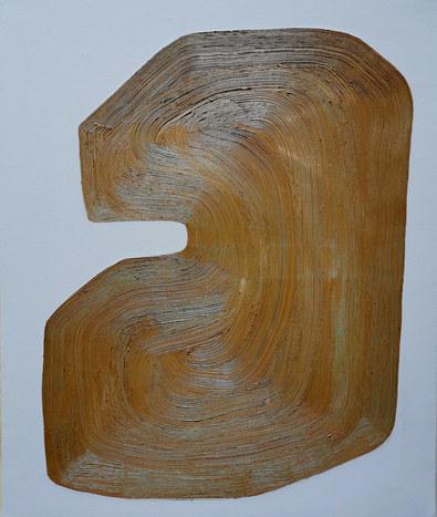 La danse de la terre, 2020, huile sur toile, 46x55 cm