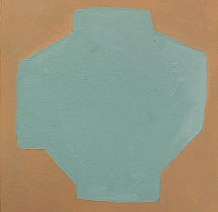 Le jardin fertile 91, 2020, huile sur papier, 11x11 cm,