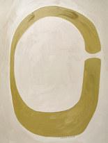 Feuille de lune, 2020, huile sur papier, 30x40 cm