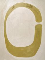 Feuille de lune, 2020, huile sur papier, 30x40 cm // COLLECTION PRIVEE