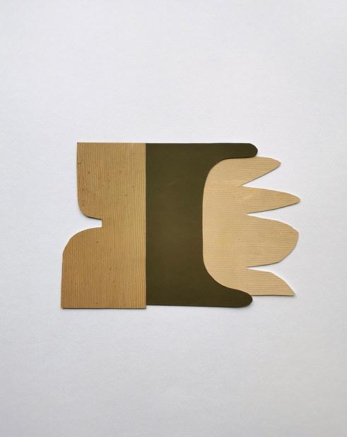 La danse inachevée 13, 2021, huile sur papier, 28x20 cm