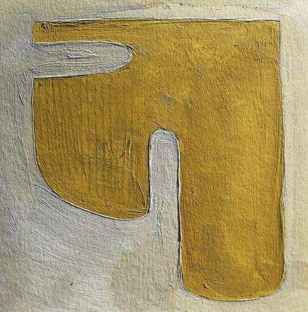 Le jardin fertile 134, 2021, huile sur papier, 11x11 cm